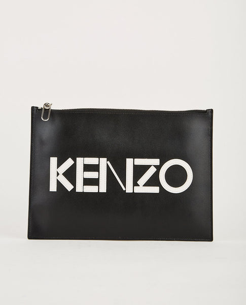 KENZO A4 POUCH SPLIT LEATHER
