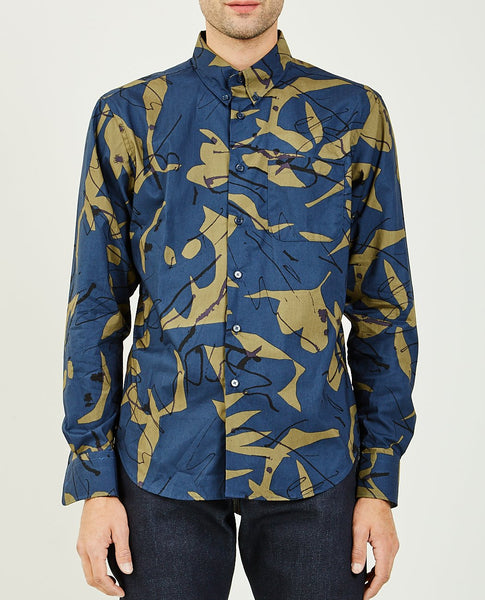 NAKED & FAMOUS Abstract Mod Print Easy Shirt