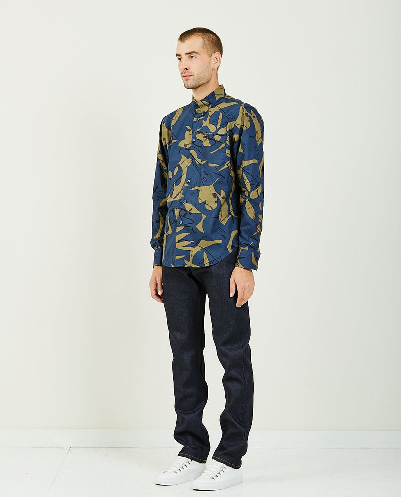 Abstract Mod Print Easy Shirt-NAKED & FAMOUS-American Rag Cie