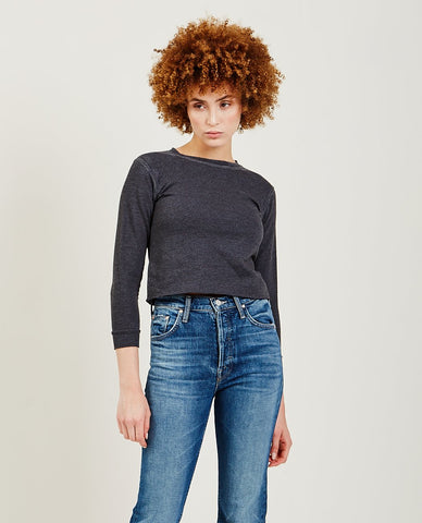STATESIDE French Terry Ruched Sweatshirt