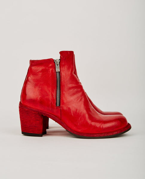 OFFICINE CREATIVE AGNES ZIP BOOT RED