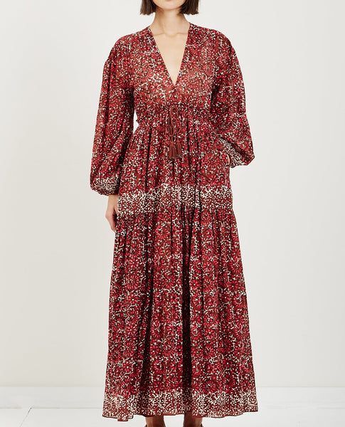 ULLA JOHNSON ALETHEA DRESS HENNA
