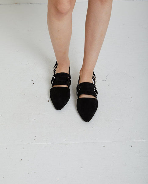OPENING CEREMONY ALEXX SUEDE HARNESS FLAT