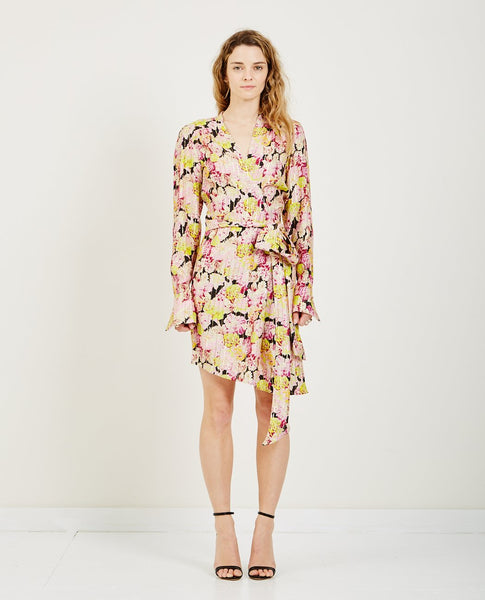 BIRGITTE HERSKIND ALICE SILK WRAP DRESS