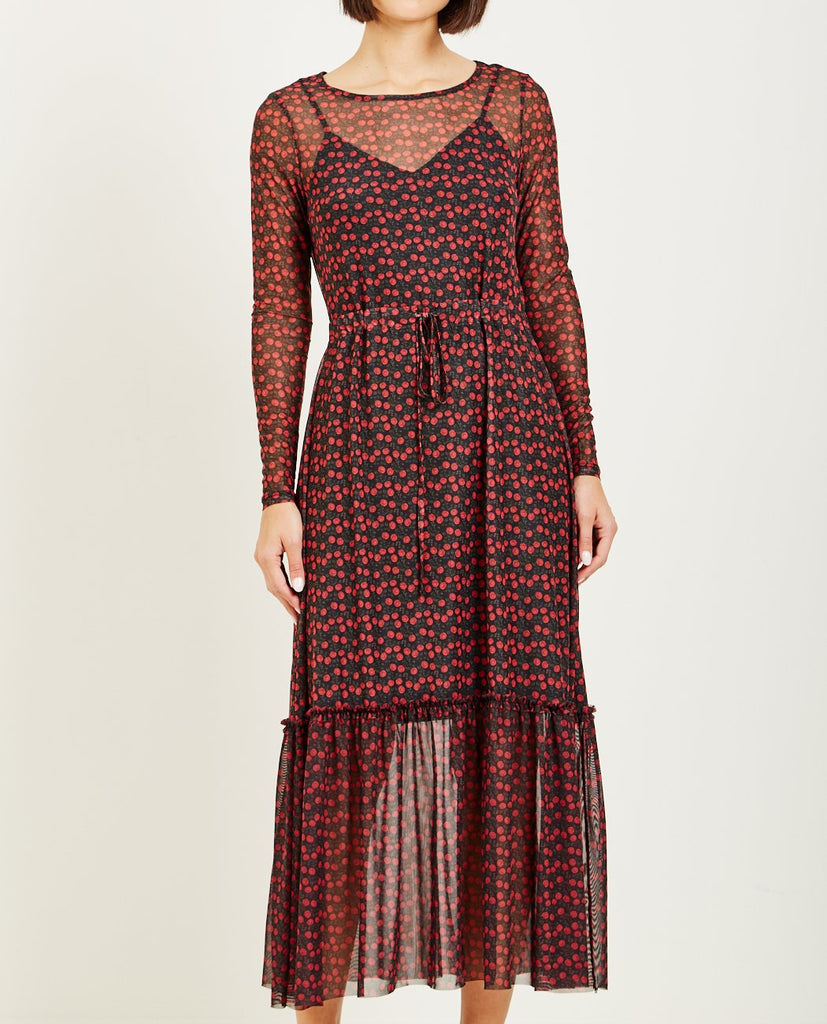 JUST FEMALE-ALLEY MAXI DRESS TINY ROSE-DRESSES-{option1]