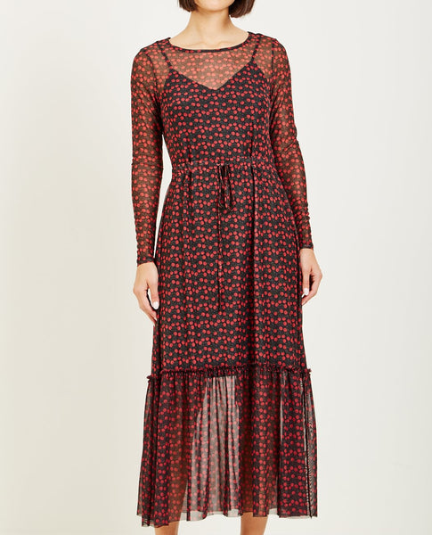 JUST FEMALE ALLEY MAXI DRESS TINY ROSE