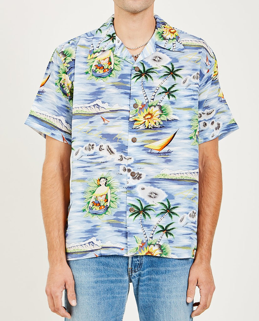 AVANTI-ALOHA ISLES SHIRT BLUE-Men Shirts-{option1]