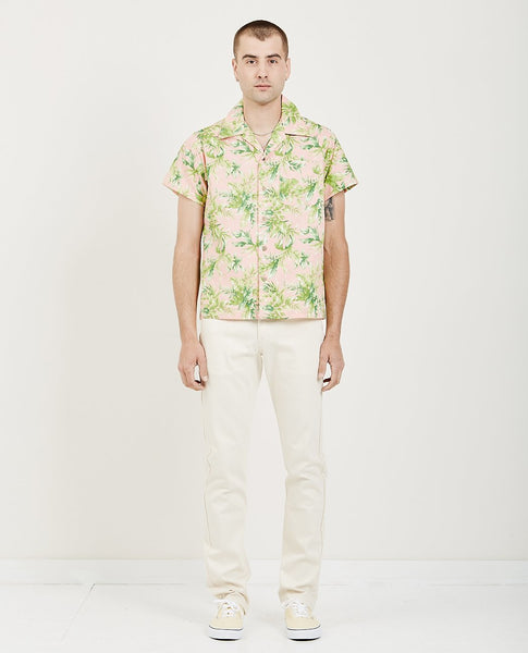 NAKED & FAMOUS Aloha Shirt Big Tropical Pink