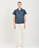 NAKED & FAMOUS-Aloha Shirt Double Jacquard Tropical Blue-Men Shirts-{option1]