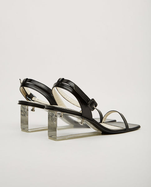 NICOLE SALDANA ALYSSA CLEAR WEDGE HEEL