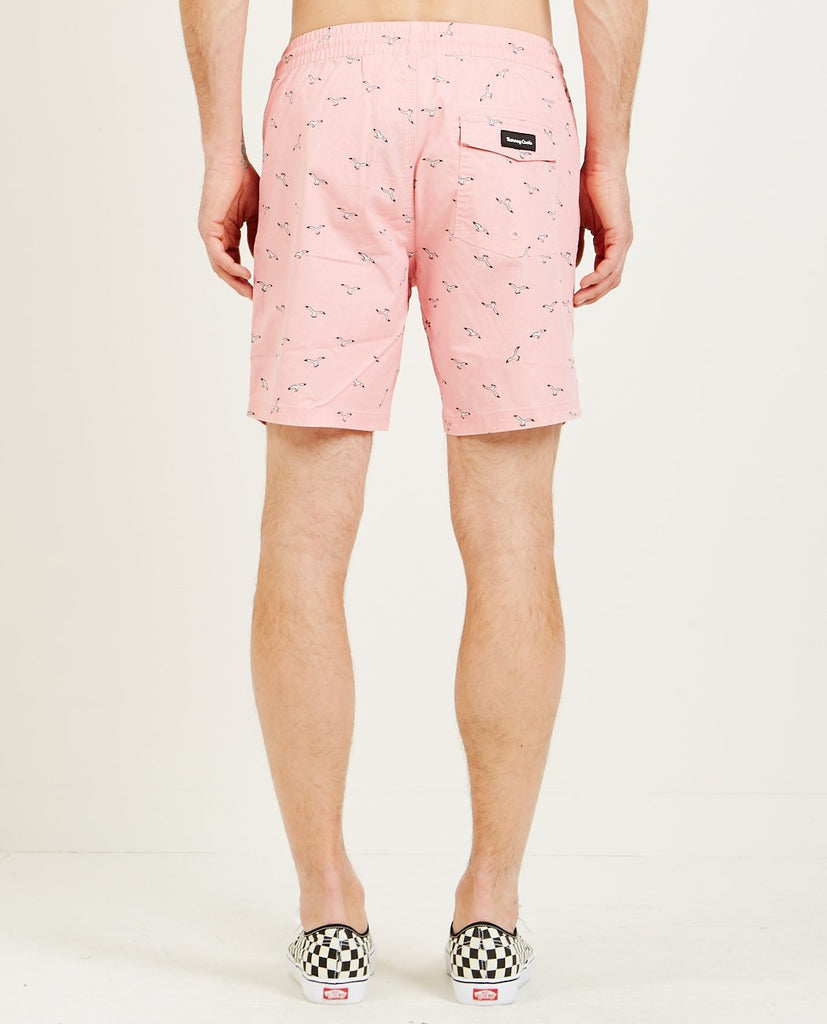 "BARNEY COOLS-AMPHIBIOUS 17"" SHORT PINK SEAGULL-Men Swimwear-{option1]"