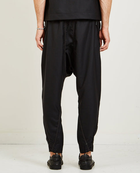 ABASI ROSBOROUGH ANKARA PANT- BLACK WOOL