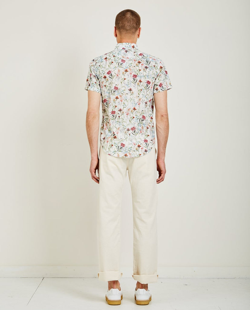 NAKED & FAMOUS-ANTIQUE BOTANICAL PAINTING SHIRT WHITE-Men Shirts-{option1]