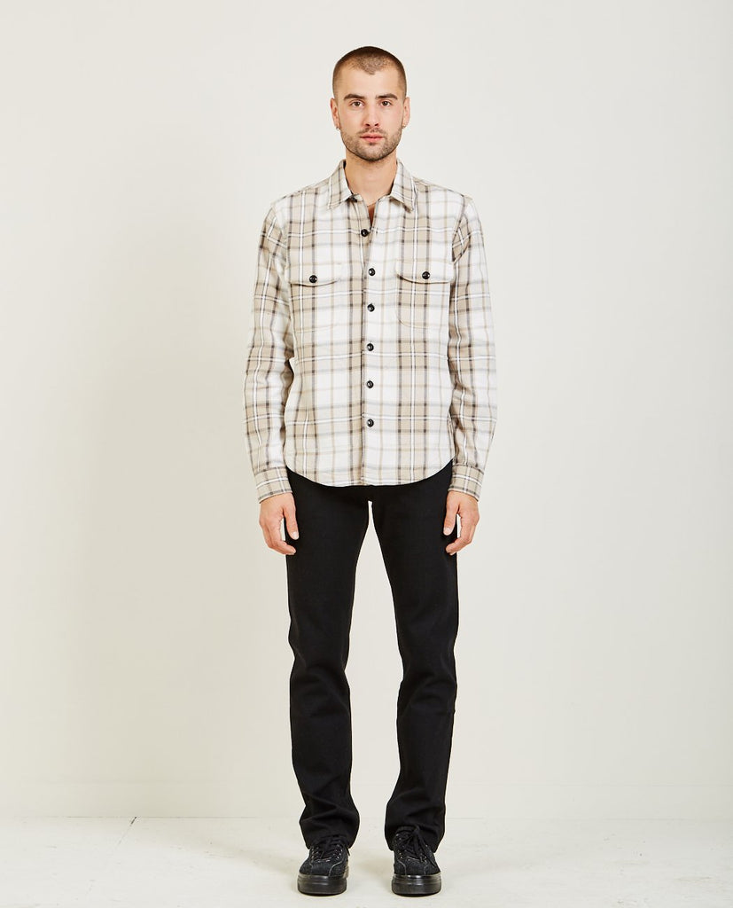 KATO ANVIL SHIRT JACKET HEAVY FLANNEL BEIGE