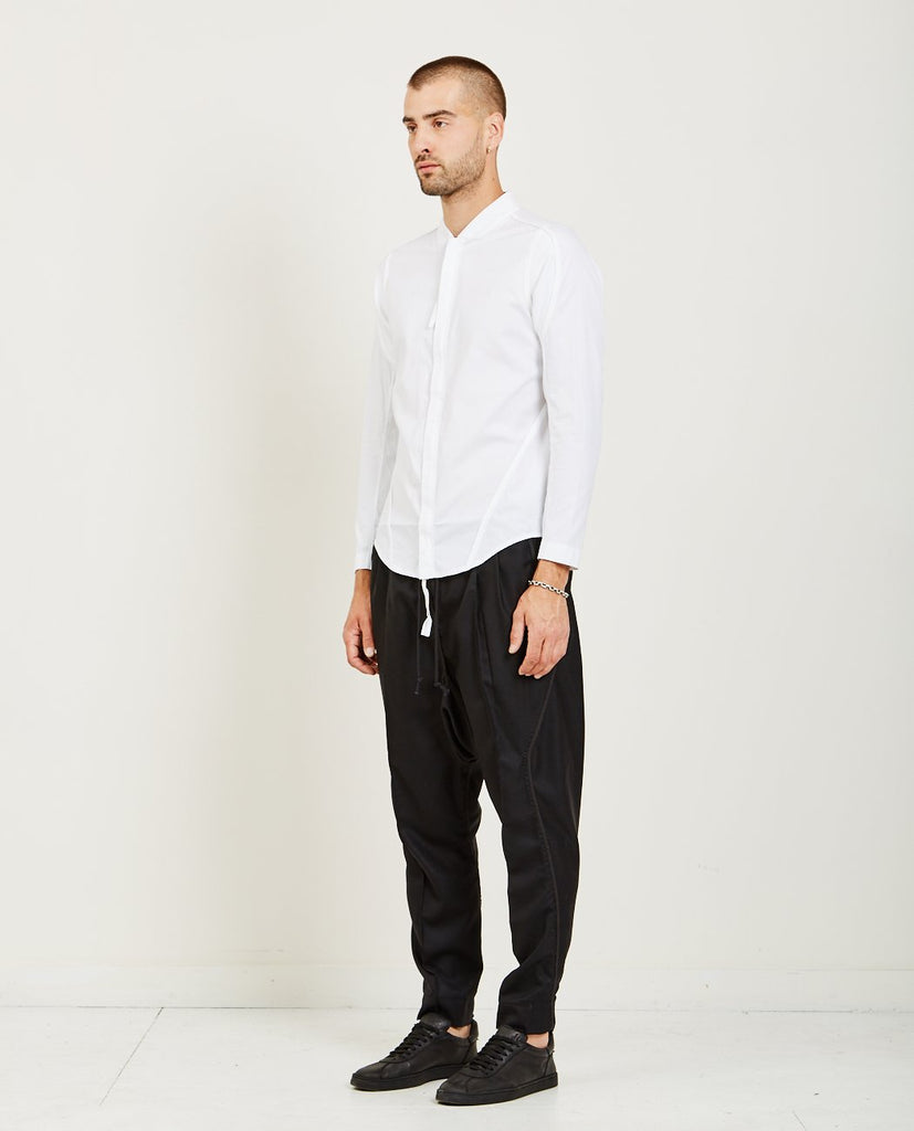 ABASI ROSBOROUGH-APRES SHIRT- WHITE POPLIN-Men Shirts-{option1]