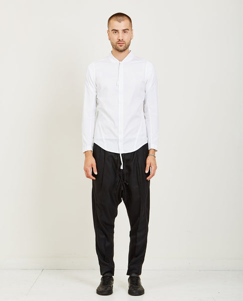 ABASI ROSBOROUGH APRES SHIRT- WHITE POPLIN