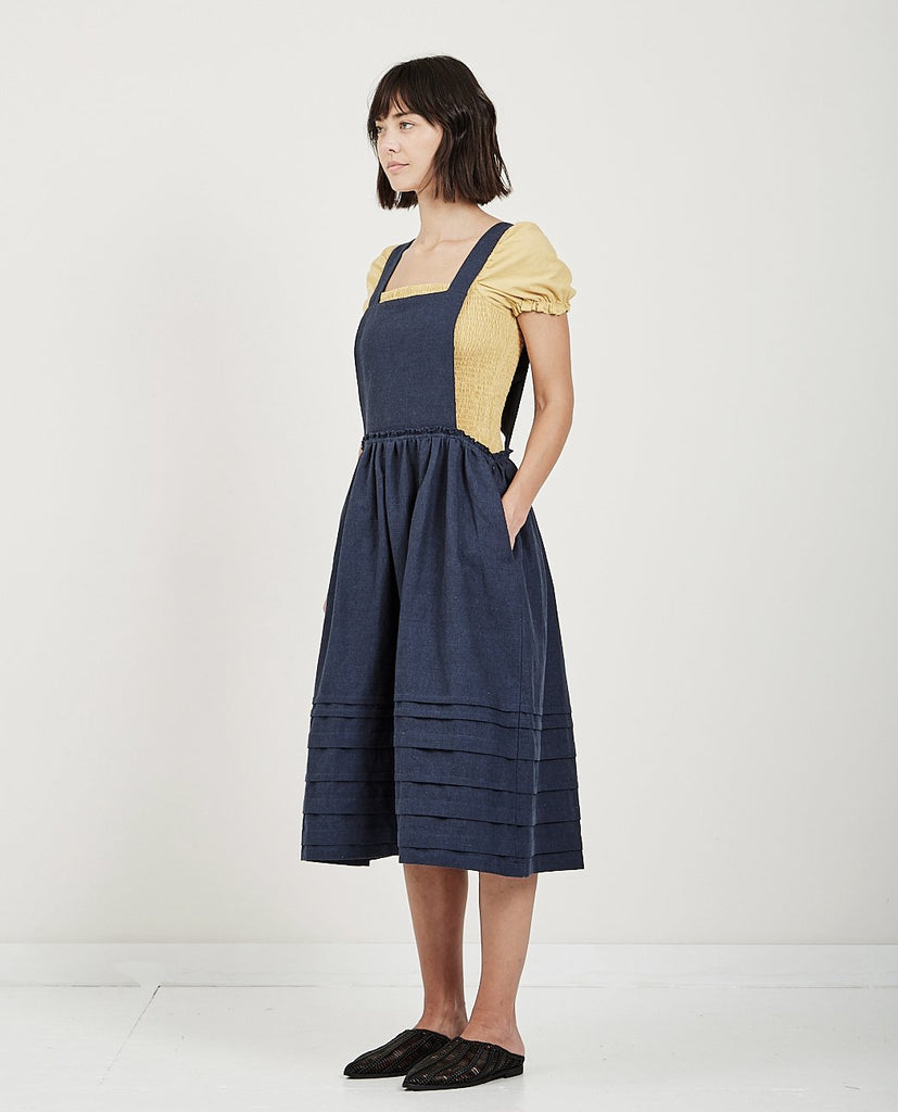 APRON PINTUCK DRESS-MUSED-American Rag Cie