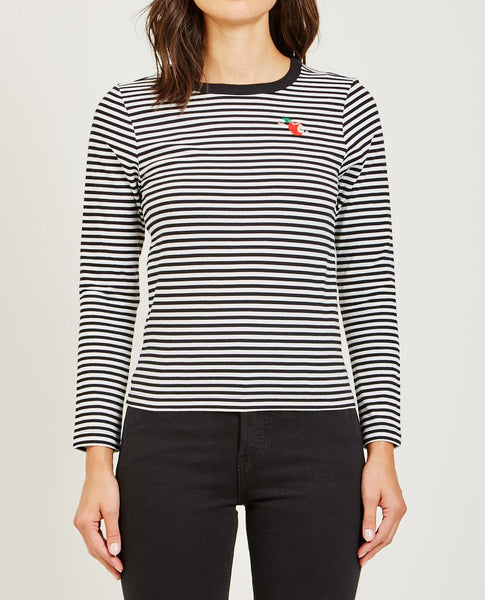 MAISON LABICHE ARROW APPLE LONG SLEEVE TEE