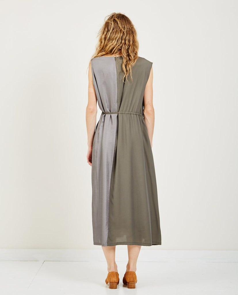 HIDDEN FOREST MARKET-ASYMMETRIC COLUMN DRESS-SALE Dresses-{option1]