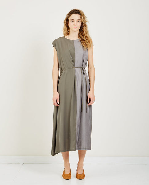 HIDDEN FOREST MARKET ASYMMETRIC COLUMN DRESS