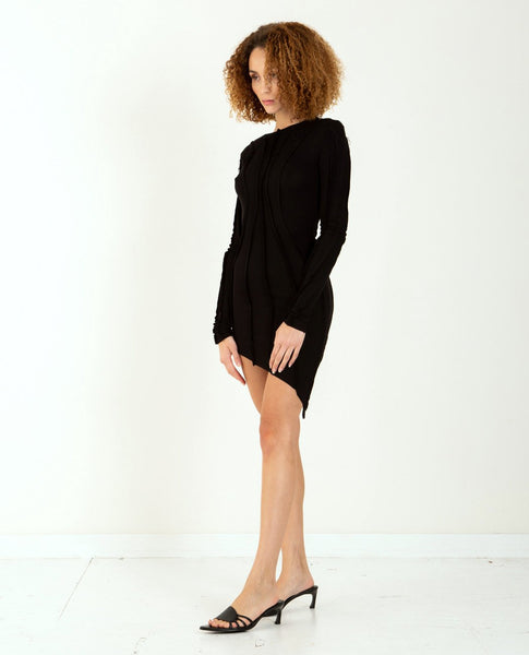 SAMI MIRO VINTAGE Asymmetric Long Sleeve Dress