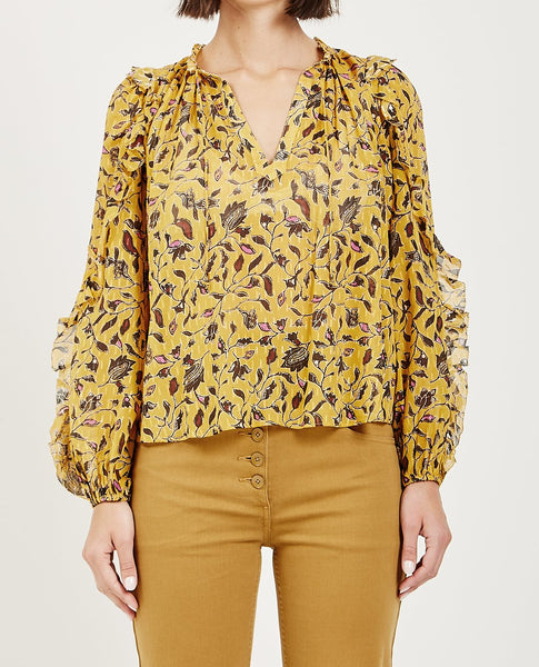 ULLA JOHNSON ATIYA BLOUSE AMBER