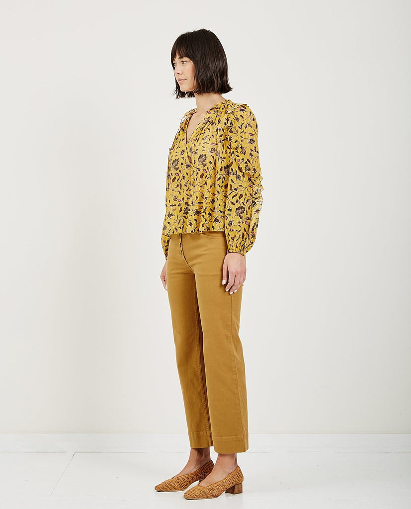 ULLA JOHNSON-ATIYA BLOUSE AMBER-Blouses-{option1]