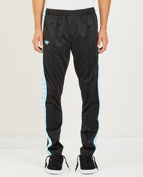 KAPPA AUTHENTIC BASCILE UP & DOWN TRACK PANT BLACK WHITE TURQUOISE