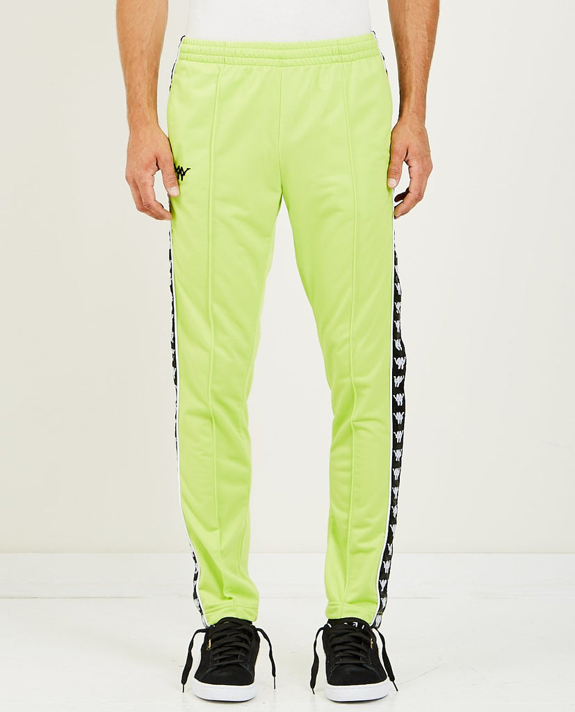 AUTHENTIC BASCILE UP & DOWN TRACK PANT GREEN LIME-KAPPA-American Rag Cie
