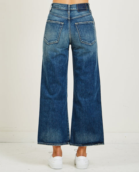 AMO DENIM AVA CROP SUPER HIGH RISE WIDE LEG JEAN