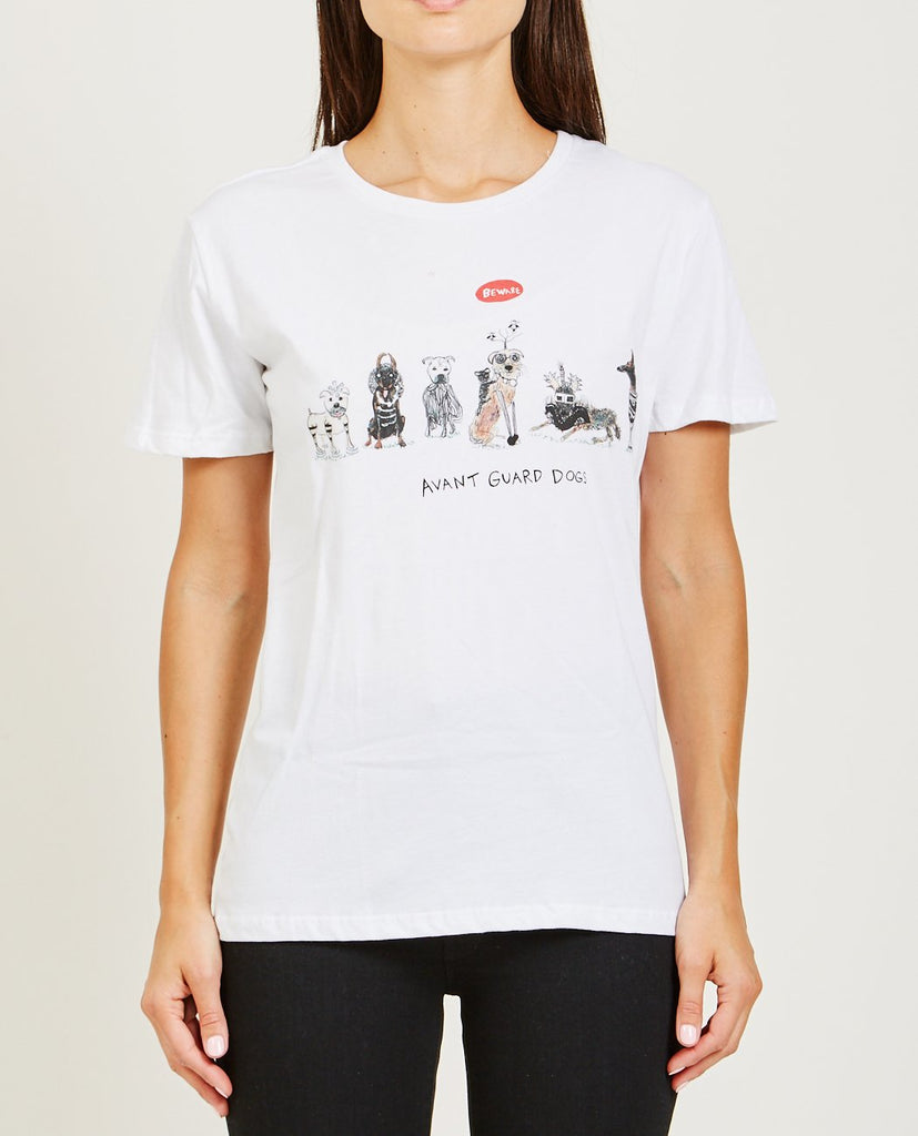 UNFORTUNATE PORTRAIT-AVANT GUARD DOGS TEE-Women Tees + Tanks-{option1]