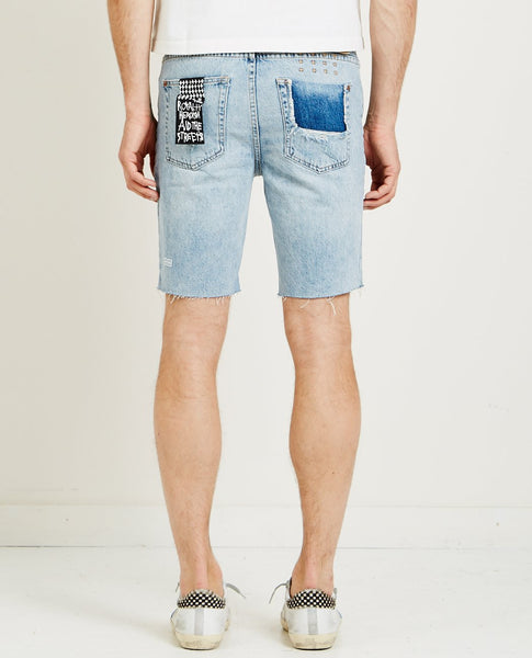 KSUBI AXEL SHORT TRUE BLUE RIPPED