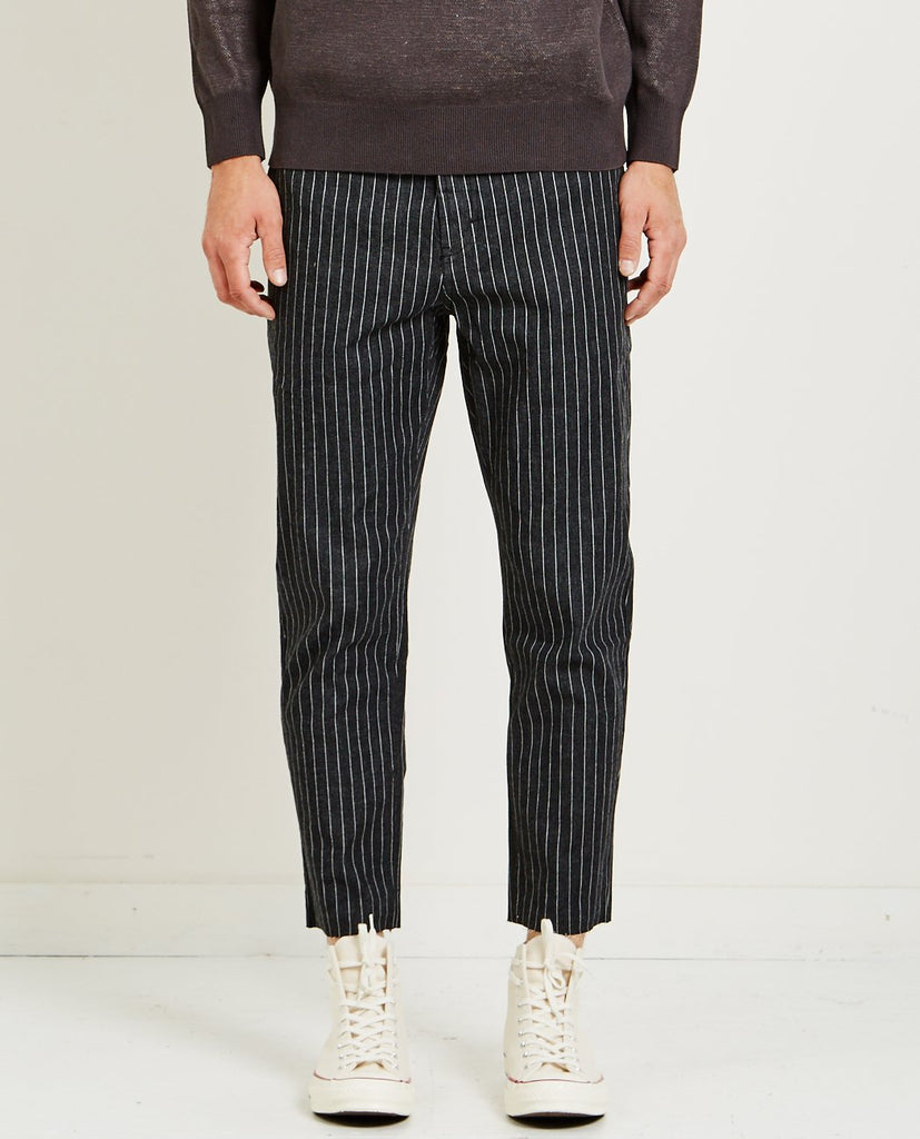 BARNEY COOLS-B. RELAXED CHINO BLACK PINSTRIPE-Men Pants-{option1]