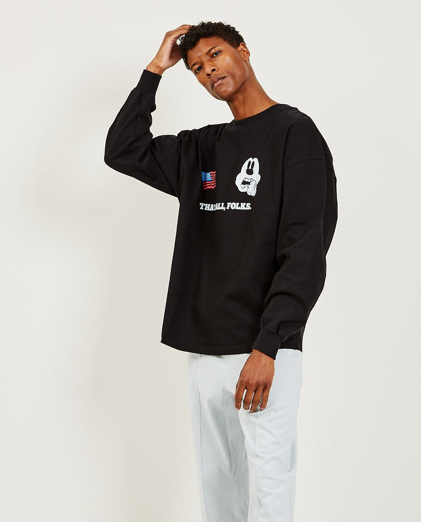 Bad Rodant Ruff Neck Long Sleeve Tee-WILLY CHAVARRIA-American Rag Cie