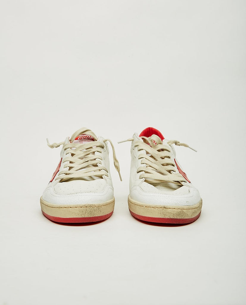 GOLDEN GOOSE-Ball Star White & Red-Men Sneakers + Trainers-{option1]