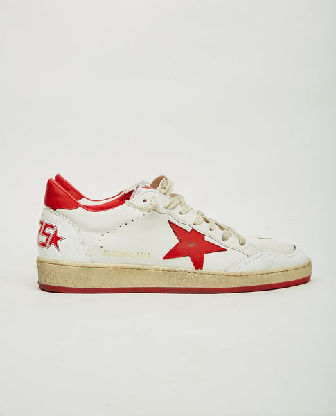 GOLDEN GOOSE Ball Star White & Red