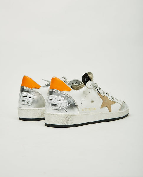 GOLDEN GOOSE Ball Star White Silver & Orange