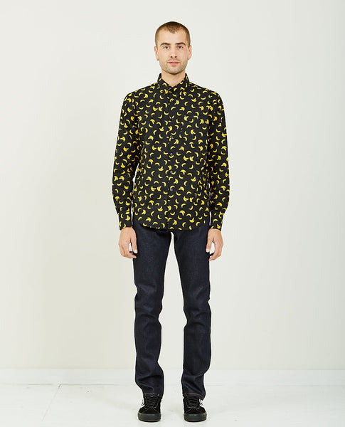 NAKED & FAMOUS Banana Print Easy Shirt