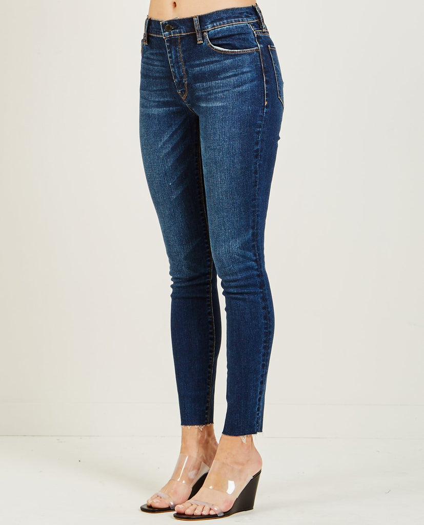 HUDSON-BARBARA HIGH RISE SUPER SKINNY ANKLE JEAN VAGABOND-Women Skinny-{option1]