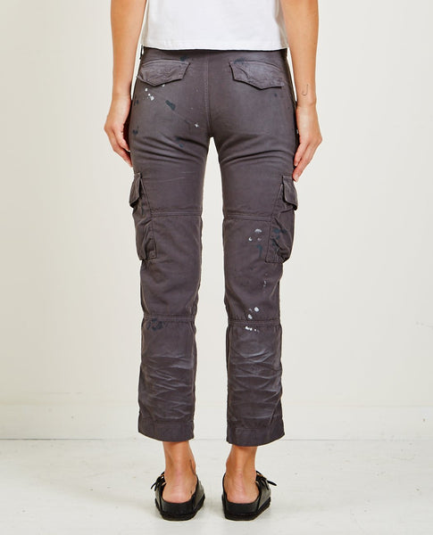 NSF BASQUIAT CARGO POCKET PANT DISTRESSED FADED BLACK