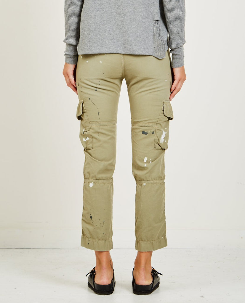 NSF-BASQUIAT CARGO POCKET PANT DISTRESSED FATIGUE-Women Pants-{option1]