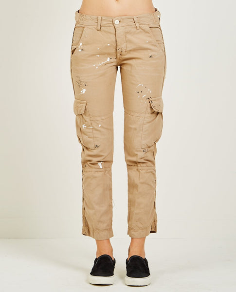 NSF BASQUIAT CARGO POCKET PANT DISTRESSED KHAKI