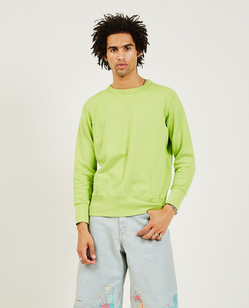 Bay Meadows Sweatshirt Acid Green-LEVI'S VINTAGE CLOTHING-American Rag Cie