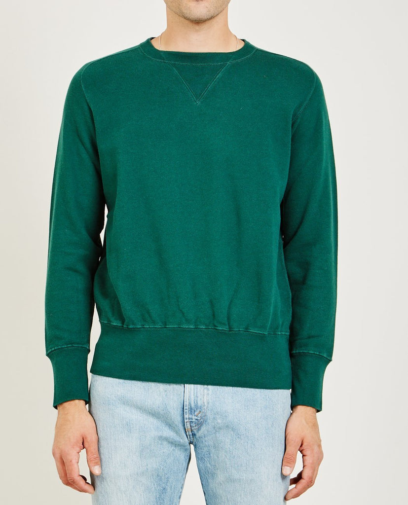 LEVI'S VINTAGE CLOTHING-BAY MEADOWS SWEATSHIRT BOTTLE GREEN-Men Sweaters + Sweatshirts-{option1]