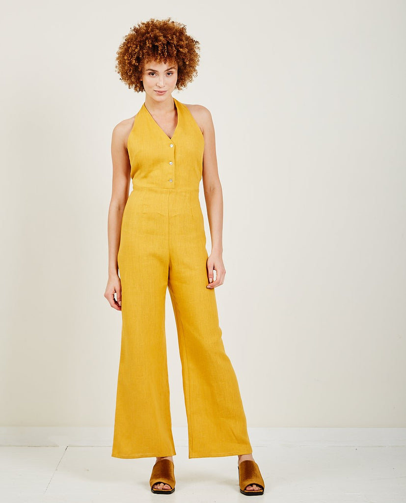 PALOMA WOOL-Beirut Linen Jumpsuit-All-In-One-{option1]