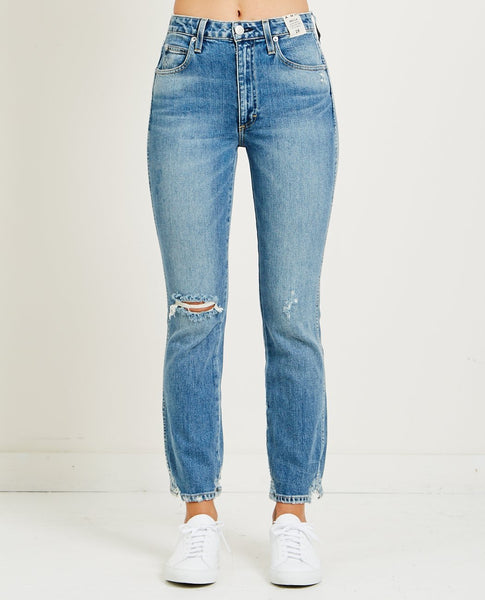 AMO DENIM BELLA HI RISE ANKLE FLARE WILD ONE
