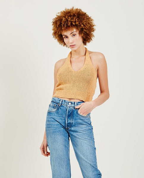 PALOMA WOOL Bien V Shaped Knitted Top