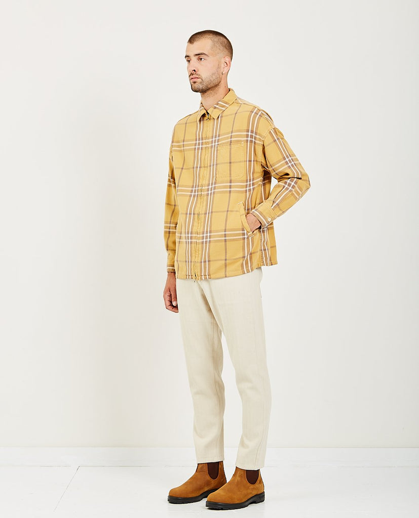 REMI RELIEF-BIG CHECKED ZIP SHIRT-Men Shirts-{option1]