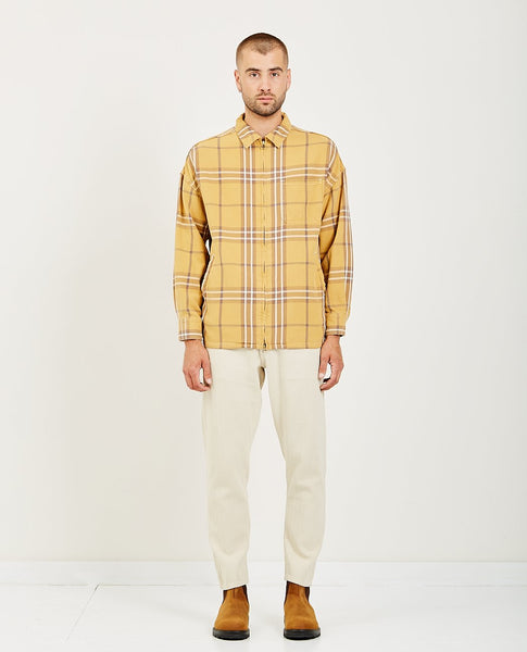 REMI RELIEF BIG CHECKED ZIP SHIRT