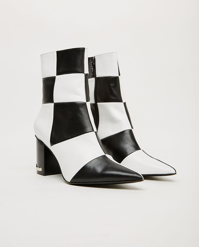 TOGA PULLA-Black And White Check Boot-SUMMER20 Women Boots-{option1]